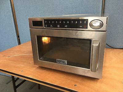 Buffalo Gk641 Programmable Commercial Microwave Oven, 1500W, Stainless Steel