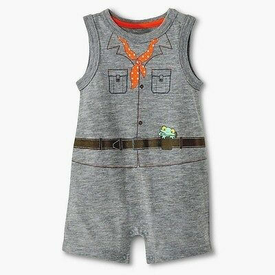 NWT Boys 6-9 Month Outfit Romper Creeper 100% COTTON Summer CHEROKEE Shorts