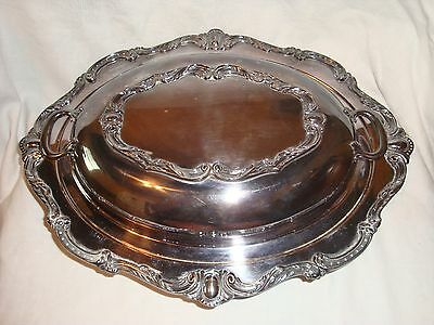 Wilcox LS Rochelle EPNS ECovered Oval Serving Dish Chafing