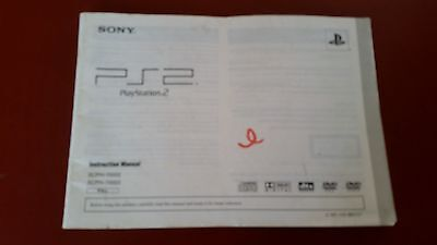 Sony Playstation Two PS2 Instruction Manual- Booklet SCPH 70002 , 70003