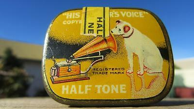 1920's Circa His Master's Voice Loud Tone Gramophone Needles Tin with Contents.
