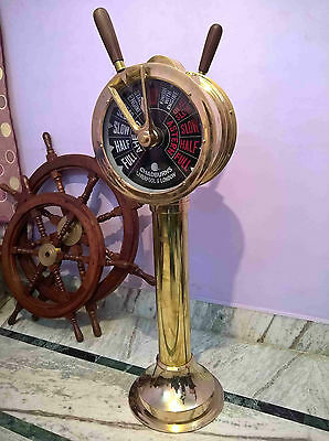 Ship's Telegraph Brass Engine Order Antique Maritime Collectible Decorative 43 ""