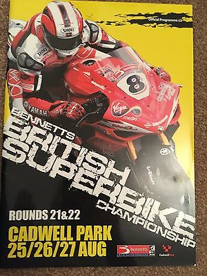 2007 Cadwell Park British Superbike BSB Programme 25 - 27 August Rounds 21 & 22