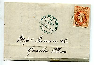 South Australia 1859 Cover Letter With 2 Pence Queen Victoria