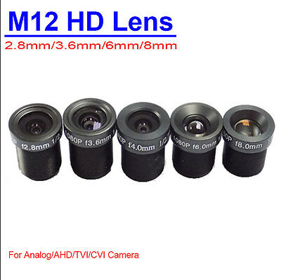 security CCTV camera M12 fixed Monofocal lens 2.8mm 3.6mm 4mm 6mm 8mm Wide angle
