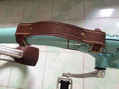 """Brompton Leather Holder """"HANDMADE"""" Best Quality Best Price ( Brown )"""