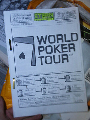 Pinball World Poker Tour Manual Stern Flipper Repro
