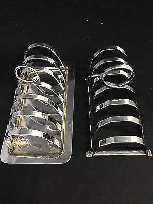 2 - Vintage Silverplated 6 Slice Toast Racks
