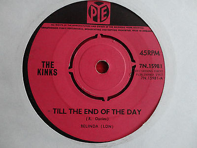 """The Kinks Till the End of the Day 7"""" Single 1965 **EX+**"""