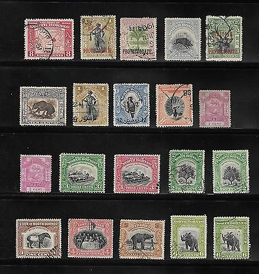 Collection Of Unused And Postally Used Stamps Of North Borneo