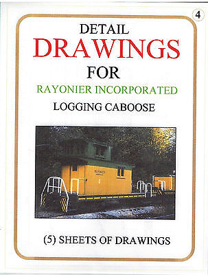 Detail Drawings of a Rayonier, Inc. Logging Caboose