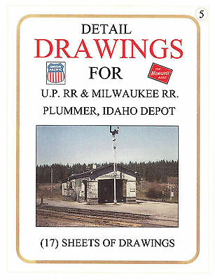 Detail Drawings of the UP/Milw RR Plummer, Idaho Depot