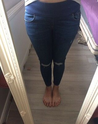 Topshop moto Maternity Ripped Jeans Size 10 Length 30