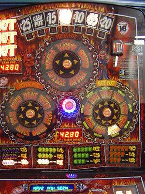 Hot As Hell - £70 Fruit Machine -New Cabinet With Led Lighting
