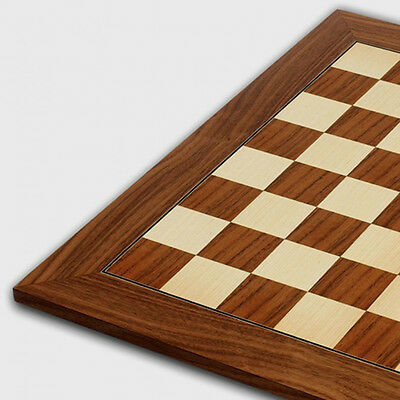 American Walnut and Sycamore Chessboard with 50mm Squares