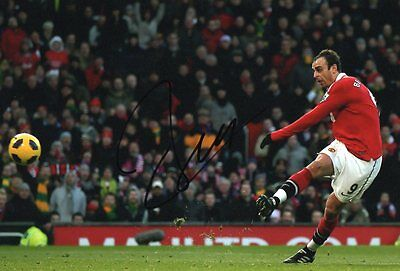 "Signed Dimitar Berbatov Manchester United 12""x8"" Photo! With Exact Proof & COA"