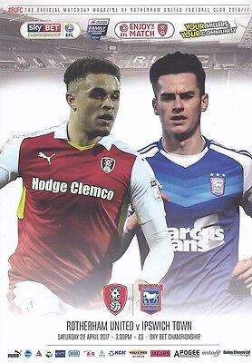 2016/17 - ROTHERHAM UNITED v IPSWICH TOWN (22nd April 2017)