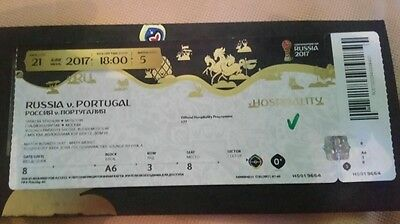 Used VIP TICKET Confed Cup Russland Russia - Portugal # Match 5 UNGEKNICKT MINT