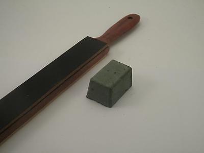 Knife Sharpening Kitchen Paddle Strop - Hardwood- Double Sided+Compound + PDF