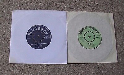 """Two Prince Buster 7"""" 45  The Commandments Of Man &al Capone"""