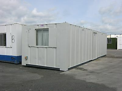 32ft x 10ft Anti Vandal Portable Cabin Site Office Welfare Unit +GOOD CONDITION+