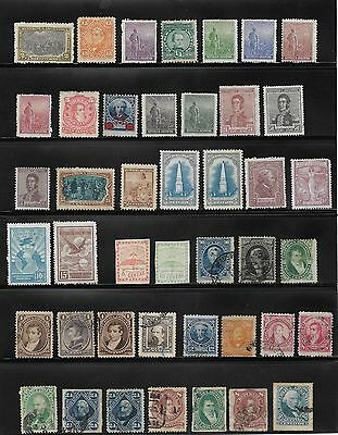 4 Page Collection Of Argentina Stamps Unused & Used Stamps