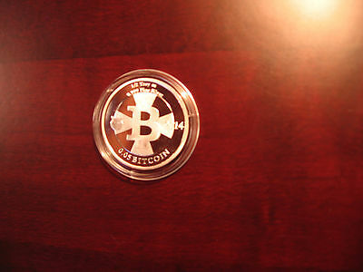 #911(Only 28)MicroSoul Loaded .05 Silver Bit coin(Physical Casascius/ETH/LTC/BTC