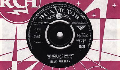 Elvis Presley Frankie And Johnny RCA 1966 EX b/w Please Don't Stop Loving Me