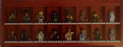 Lego Minifigure Series 11 Complete Collectable Lego Display Case Red