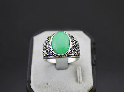 50pcs Green Natural Stone Fashion Jewelry Job Lots Men's Rings Party Gifts EH538