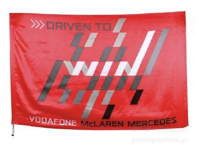 FLAG Formel Formula One Vodafone McLaren Mercedes F1 Team Rocket Rot Win V07 AT