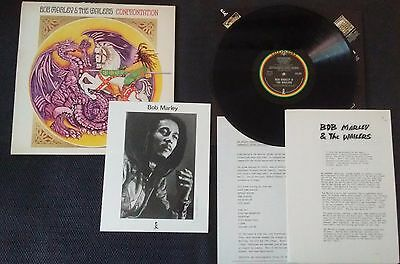 Bob Marley & The Wailers Confrontation Vinyl LP w/ Press Book & Photo ILPS 9760