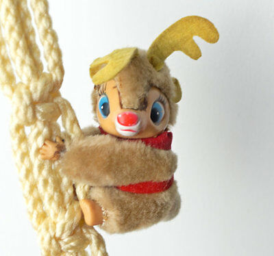 Rudolph The Red Nosed Reindeer Vintage Plush Clip On Toy Hugger