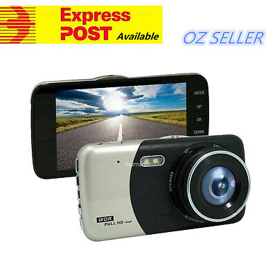 HD 4'' Dual Camera Dash Cam DVR Car Video Recorder Rear View/8/16/32G TF Card AU