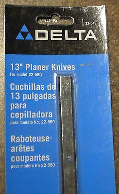 "New, Delta 13"" Planer Knives for model 22-580 planer, set of 2 blades."