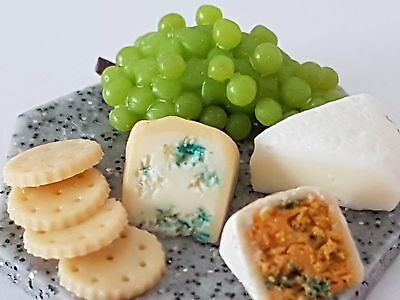 12Th Scale Dolls House Miniature Food Cheese Board, Polymer Clay, Handmade.