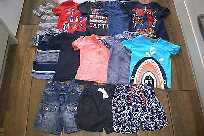 Boys 13 items t-shirts shorts bundle, 18-24 months, OTHER ITEMS FOR SALE