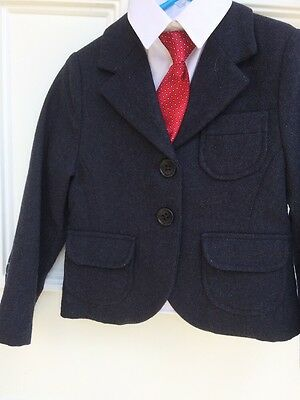 Aged 4yr Navy Show Jacket and tie