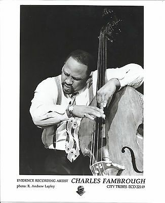 Charles Fambrough press kit, 1995, RARE official 8x10 GLOSSY photo! jazz bassist