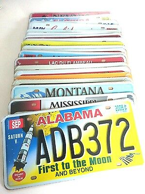 Set Of 20 Us License Plates Usa Metal Replica Vintage Collectible Mixed States