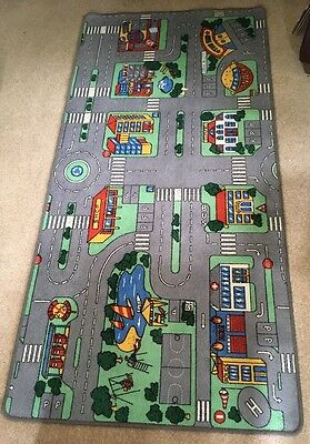 childrens childs boys play toy car mat rug road map town city 2m x 1m xtra large
