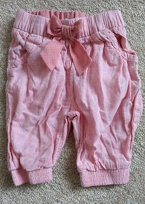 baby girls pink linen trousers - next - 9-12 months