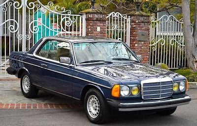 1985 Mercedes-Benz 300-Series 2 door coupe 1985 Mercedes 300CD turbo diesel coupe gorgeous blue with tan interior only 195k