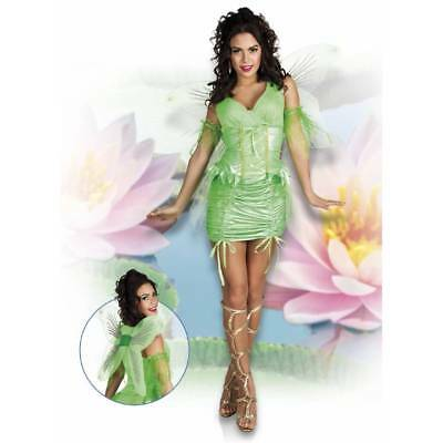 Adult Green Neverland Pixie Fairy Outfit Tinkerbell Fancy Dress Costume