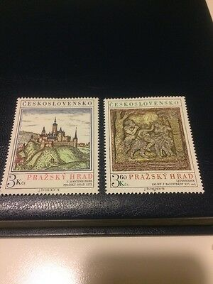 czechoslovakia stamps MNH 1976 Prague Castle