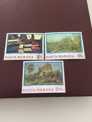 Romania stamps 1974 USED Anniversary of Impressionism part
