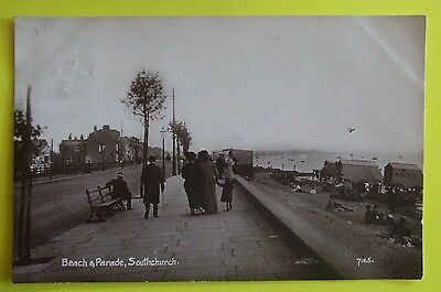 RP Postcard POSTED 1911 BEACH & PARADE SOUTHCHURCH SOUTHEND-ON-SEA ESSEX