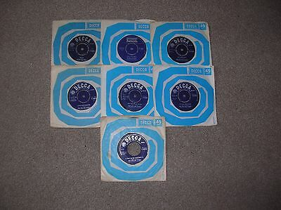 """JOB LOT  OF 7  7"""" 45s   ROLLING STONES ALL LISTED"""