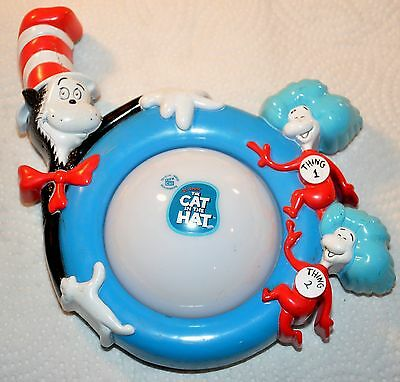 Vintage 2003 CAT IN THE HAT Dr Seuss Portable Battery Op Night Light
