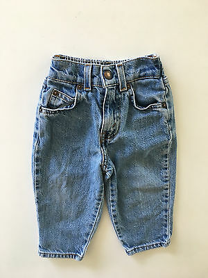 Vintage Kids 70's 80s Orange Tab High Waisted Levis Girls or Boys Size 18 months